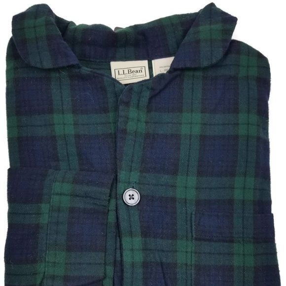 L.L. Bean Other - L. L. Bean Flannel Pajama Top Shirt Size Large Sz